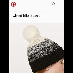 lululemon athletica Accessories - Lululemon twisted bliss beanie small 1cfed96ae90d